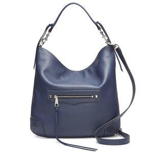 Rebecca Minkoff Slim Regan Hobo Leather Blue NWT